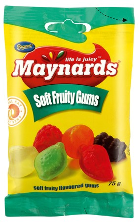 Maynards Sweets Soft Fruity Gums 75g